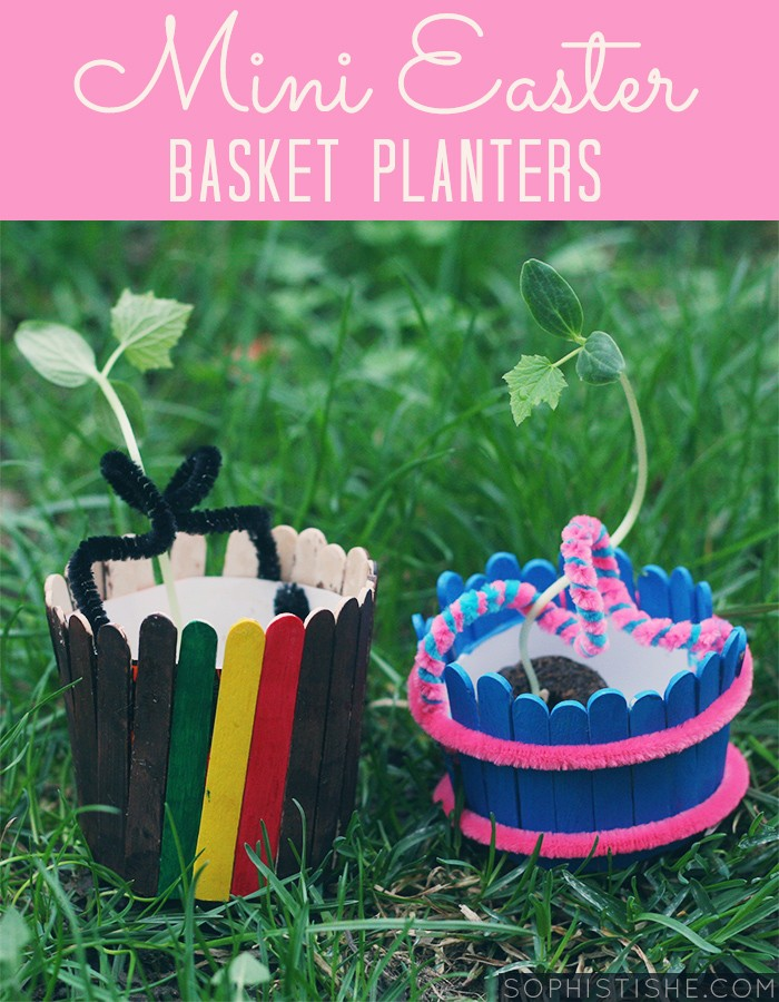Kid Craft Mini Wooden Easter Basket Planters Arts Crafts Gardening