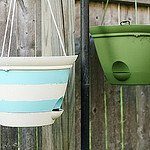 Nautical Inspired Hanging Basket Planters