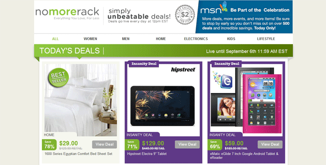 nomorerackhome Unbeatable Deals at Nomorerack Shopping Site