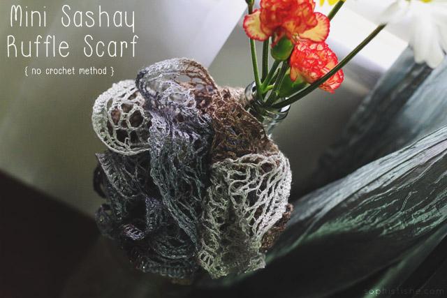 Sashay Yarn Ruffle Scarf + Wine Bottle Vase · Arts & Crafts