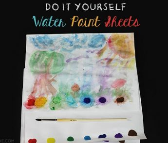 DIY Watercolor Paint Sheets