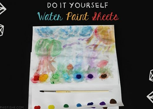 DIY Watercolor Paint Sheets