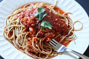 Savory Chicken Spaghetti Sauce