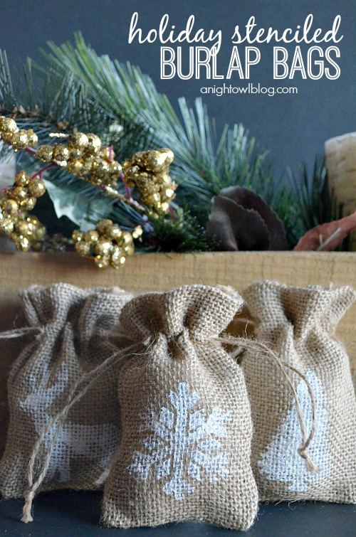 Holiday-Stenciled-Burlap-Bags-anightowlblog