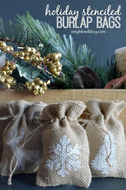Holiday-Stenciled-Burlap-Bags-anightowlblog