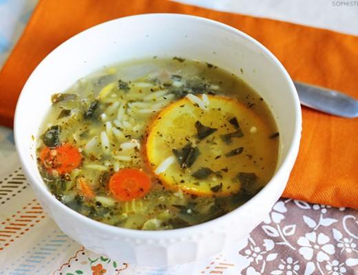 Citrus Chicken Orzo Soup