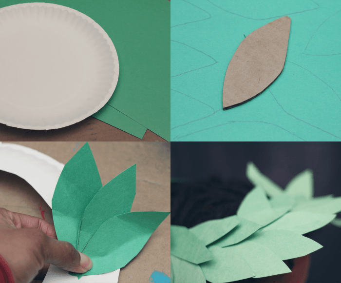 Winter olympics 3 crafts to celebrate the games arts for Laurel leaf crown template