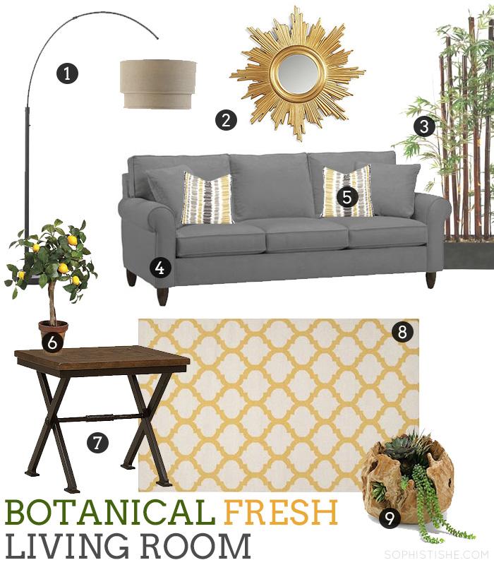Botanical Fresh Living Room #HavertysInspired