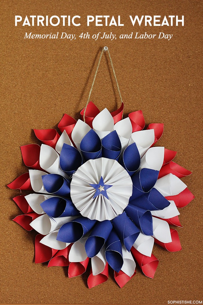 patrioticlabordaypaperwreath