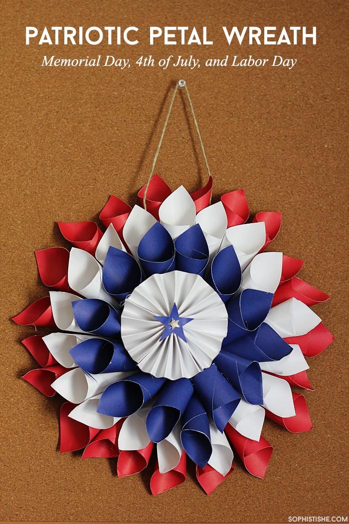 patrioticlabordaypaperwreath