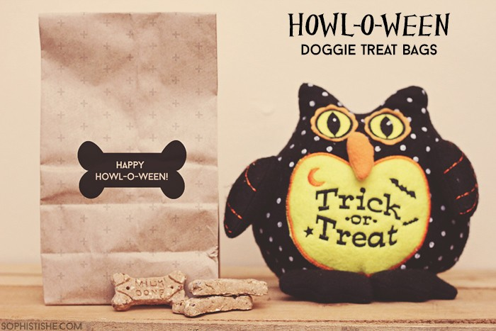 HOWL-O-WEEN Dog Treat Bags With Free Printable