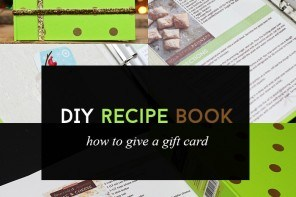 Gifting A Gift Card Inside Of A DIY Recipe Book
