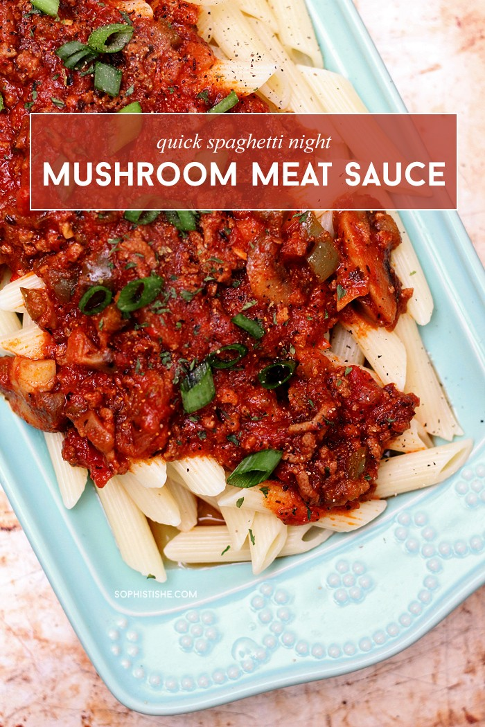 Penne With Spicy Beef & Mushroom Sauce Recipe — Dishmaps