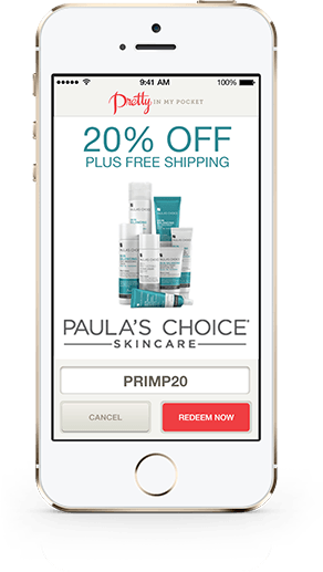 Paulas Choice White iPhone Perk