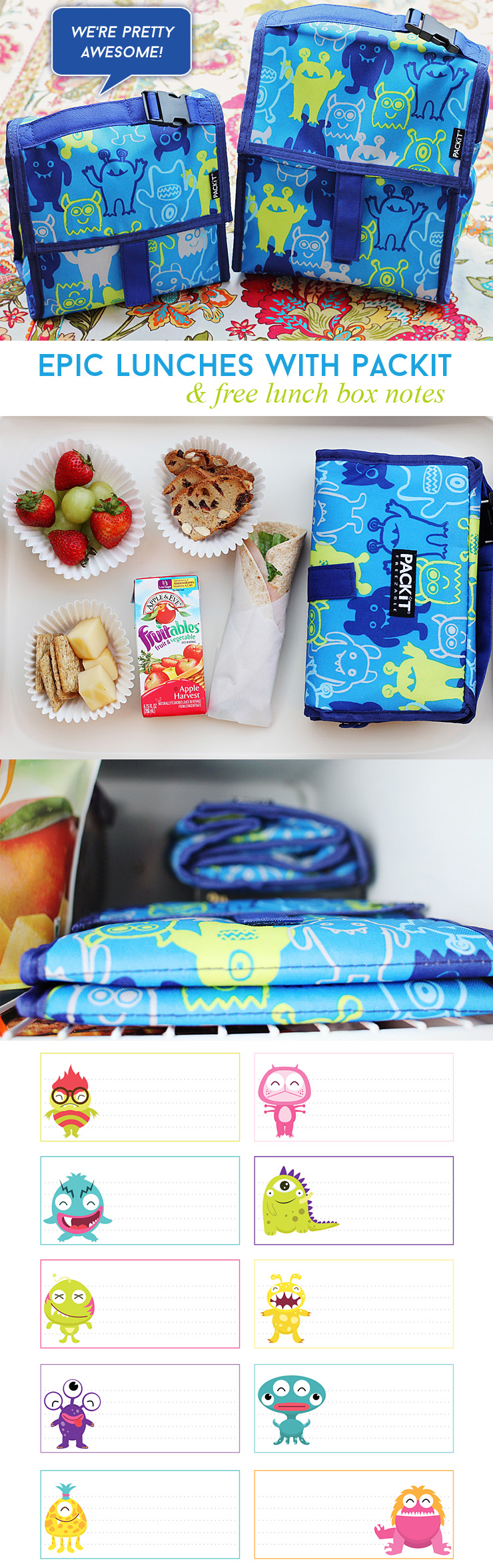 Such a cute lunch idea and adorable lunch box notes!