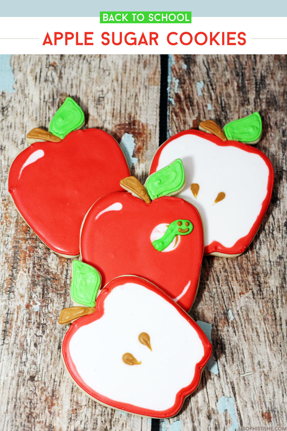 Back to School Apple Sugar Cookies via @sheenatatum