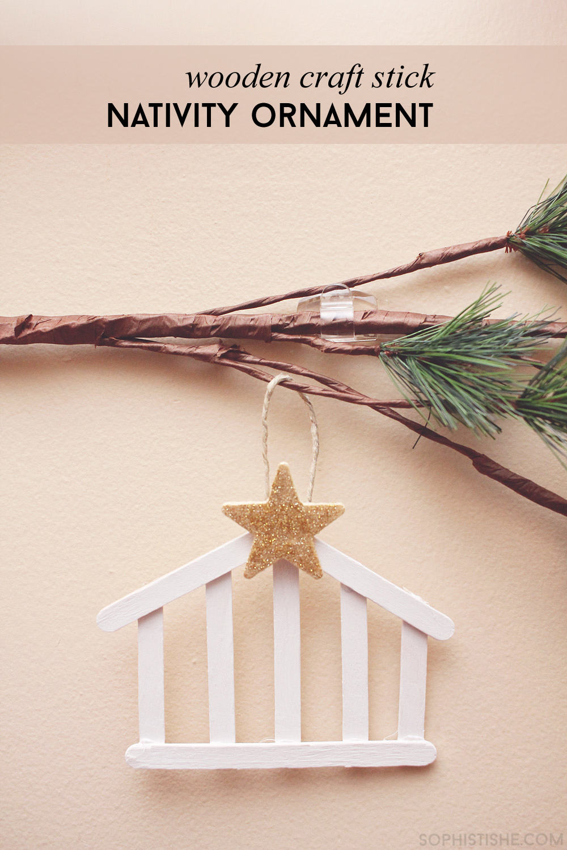 Craft Stick Nativity Ornament