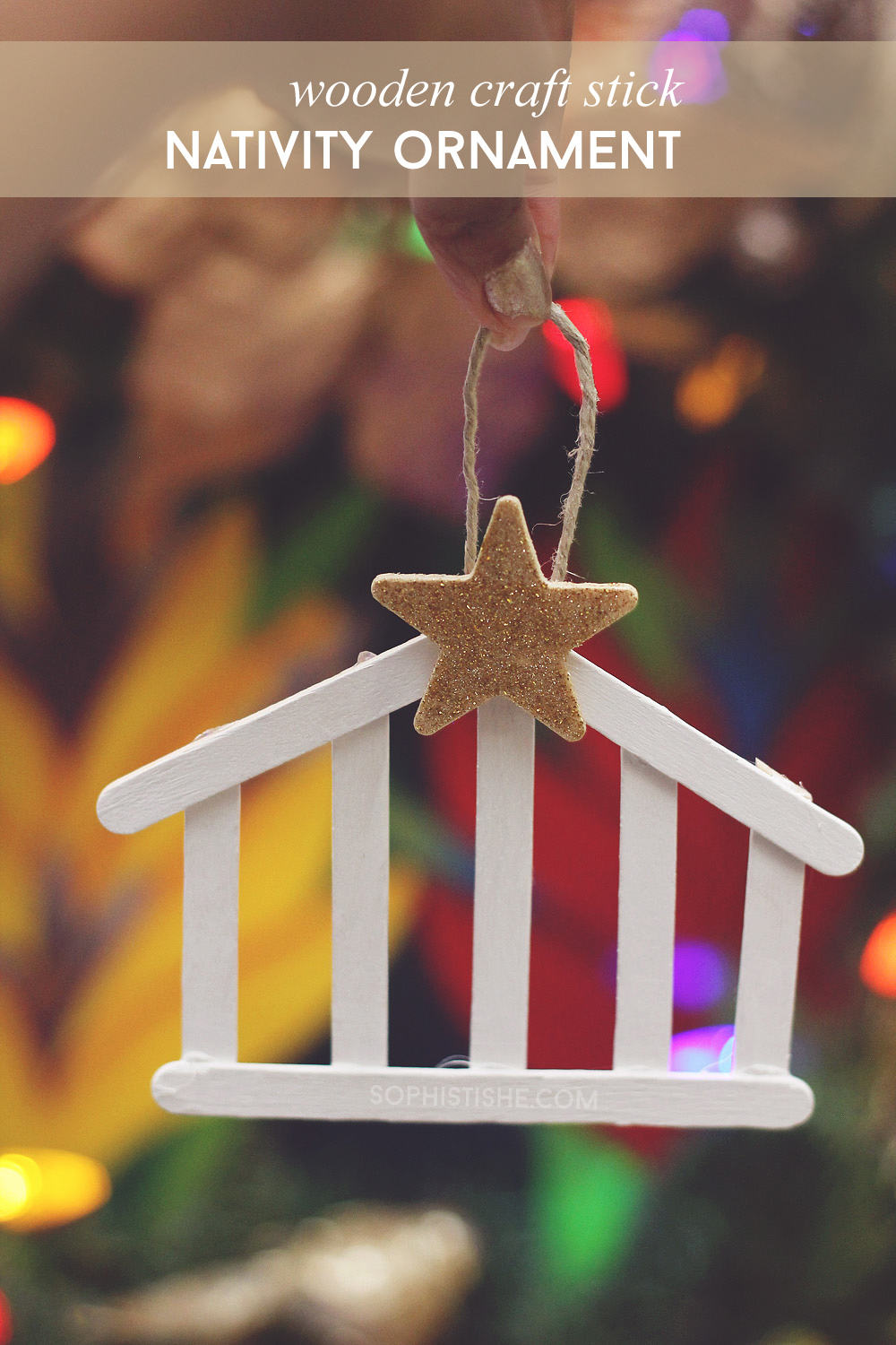 Craft Stick Nativity Ornament