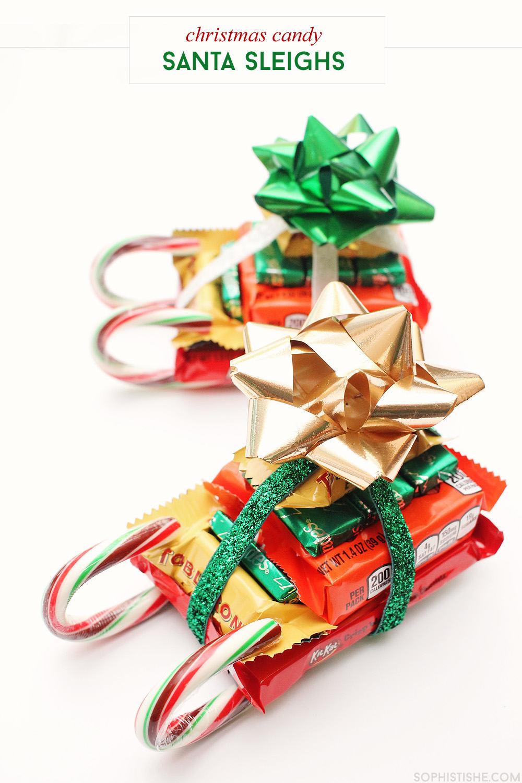 Christmas Candy Sleighs via @sheenatatum