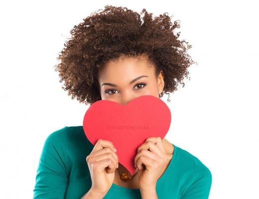 valentinesdayblackwomanheart