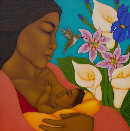 breastfeedingmotherethnicpainting2