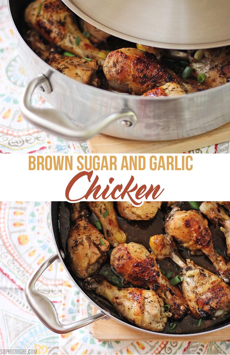 Baked Brown Sugar And Garlic Chicken