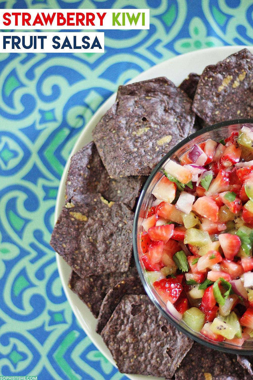 Summer Snack Idea: Strawberry Kiwi Fruit Salsa