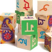 Hindi Wood Baby Blocks