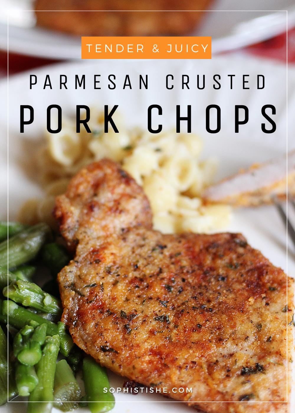 Tender & Juicy Parmesan Crusted Pork Chops