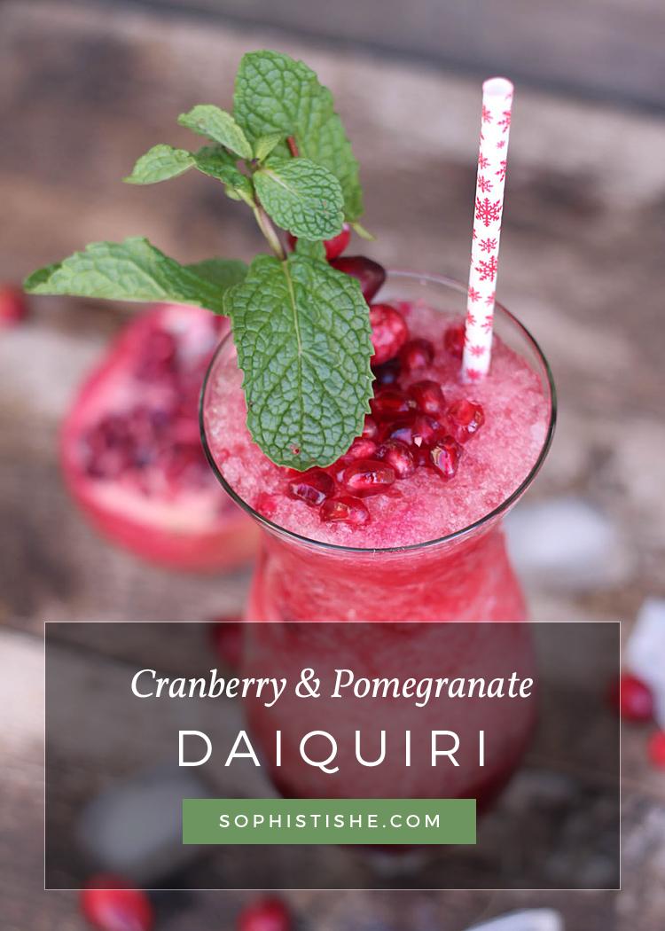 Holiday Cranberry & Pomegranate Daiquiri