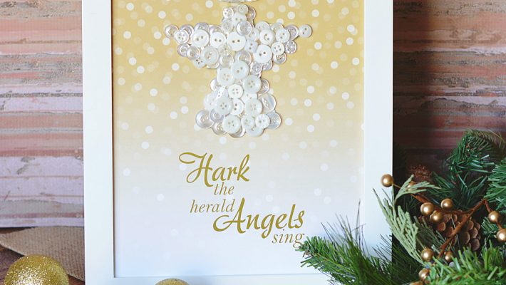 Holiday Angel Button Craft With Printable