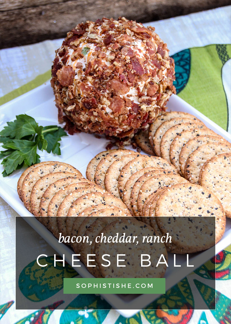Bacon, Cheddar, Ranch Cheese Ball