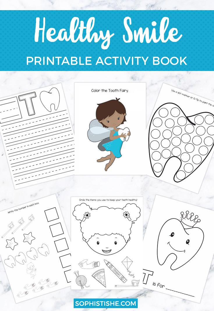 Healthy Smile Printable Activity Book | Pre-K