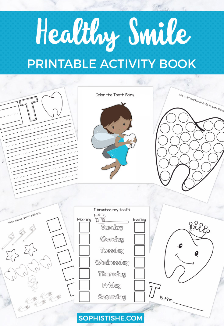 Healthy Smile Printable Activity Book | Pre-K