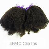4B/4C Curly Hair Clipins