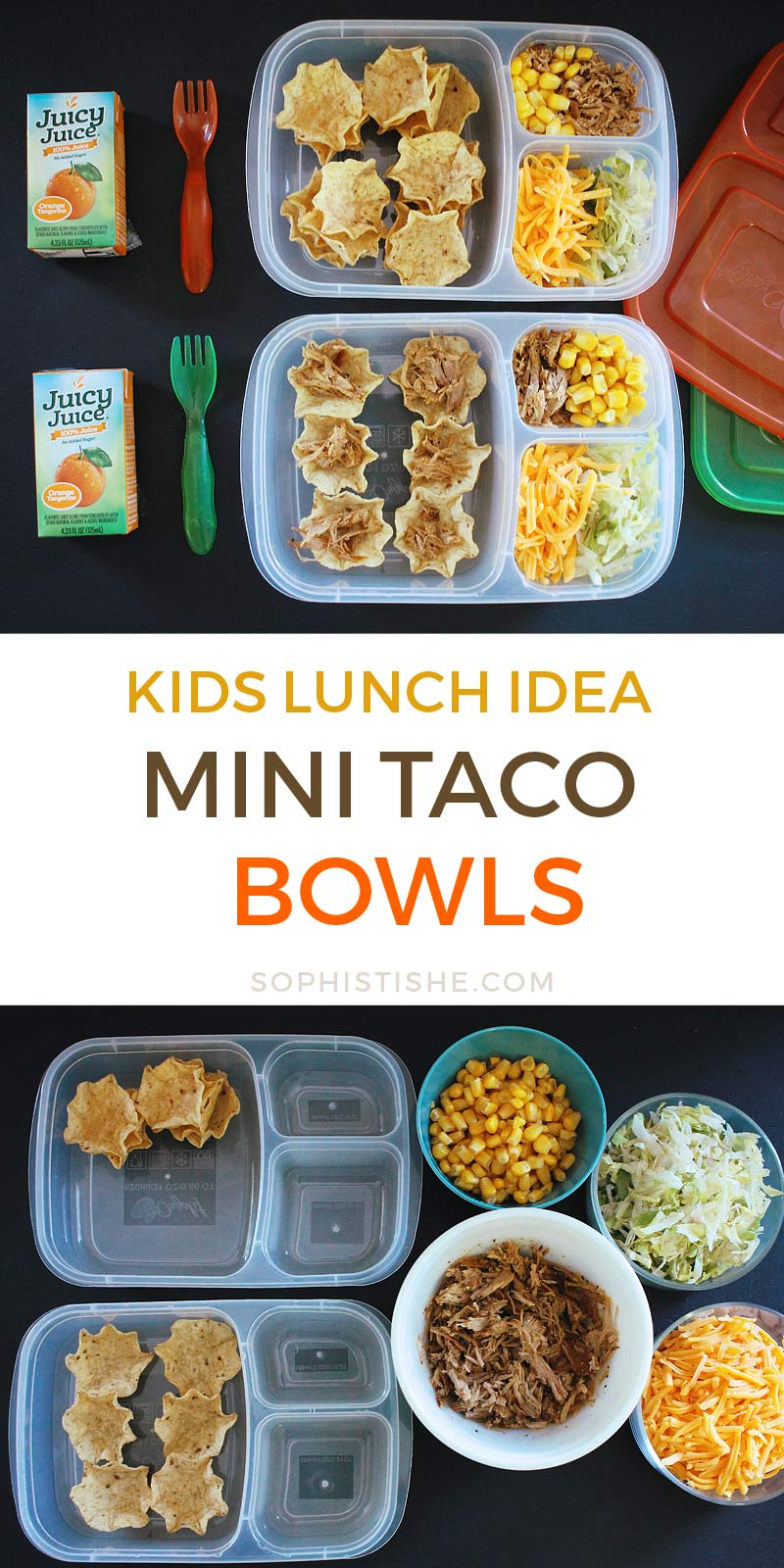 Kids Lunch: Mini Taco Bowls