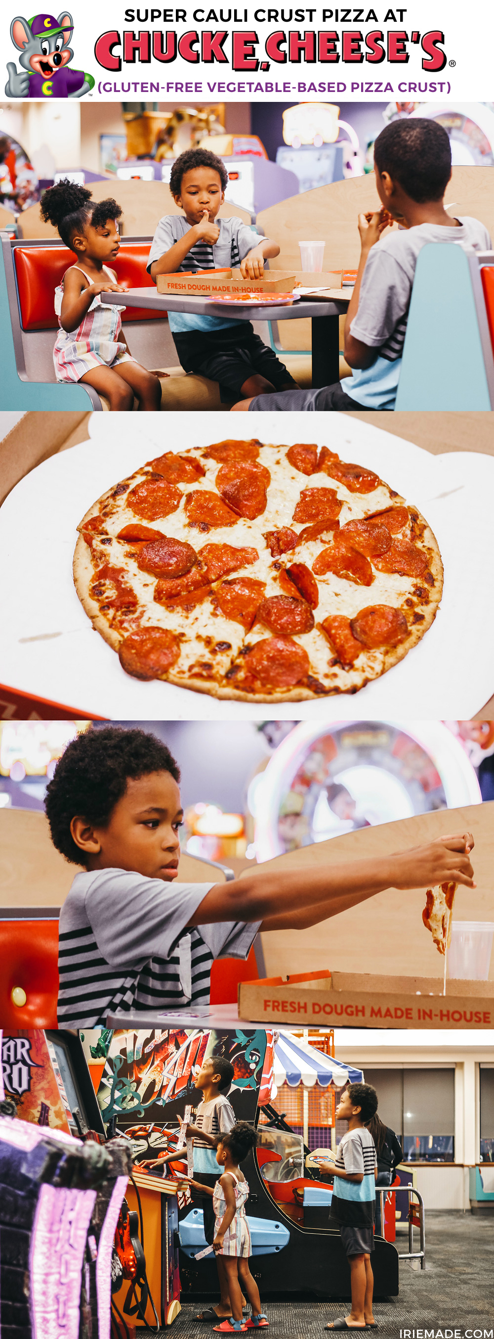 Super Cauli Crust Cauliflower Gluten-Free Pizza at Chuck E. Cheese's
