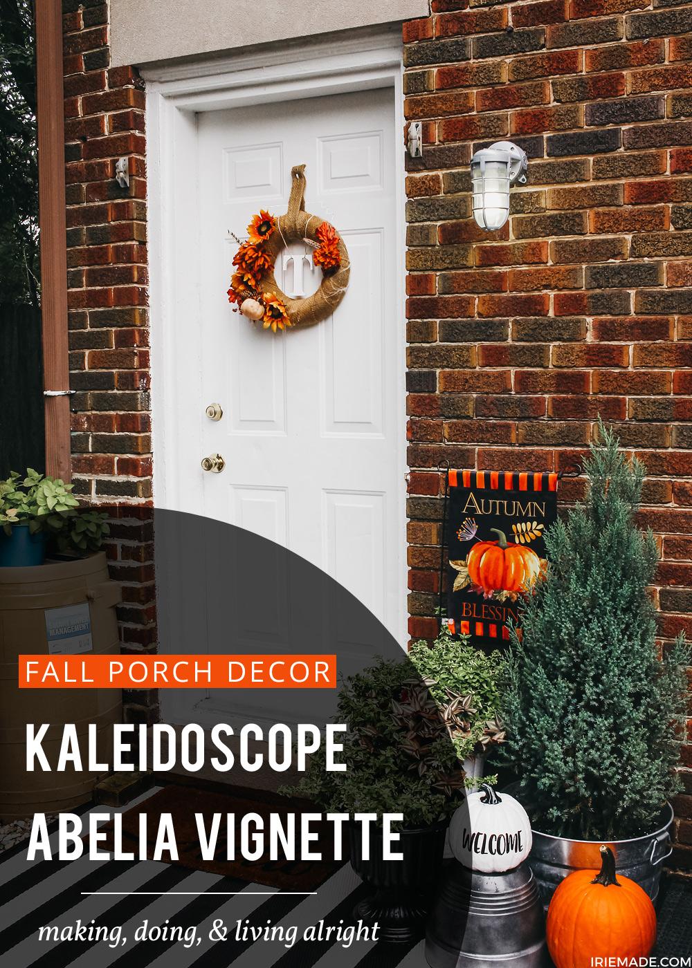 Fall Porch Decor Idea: Kaleidoscope Abelia Vignette