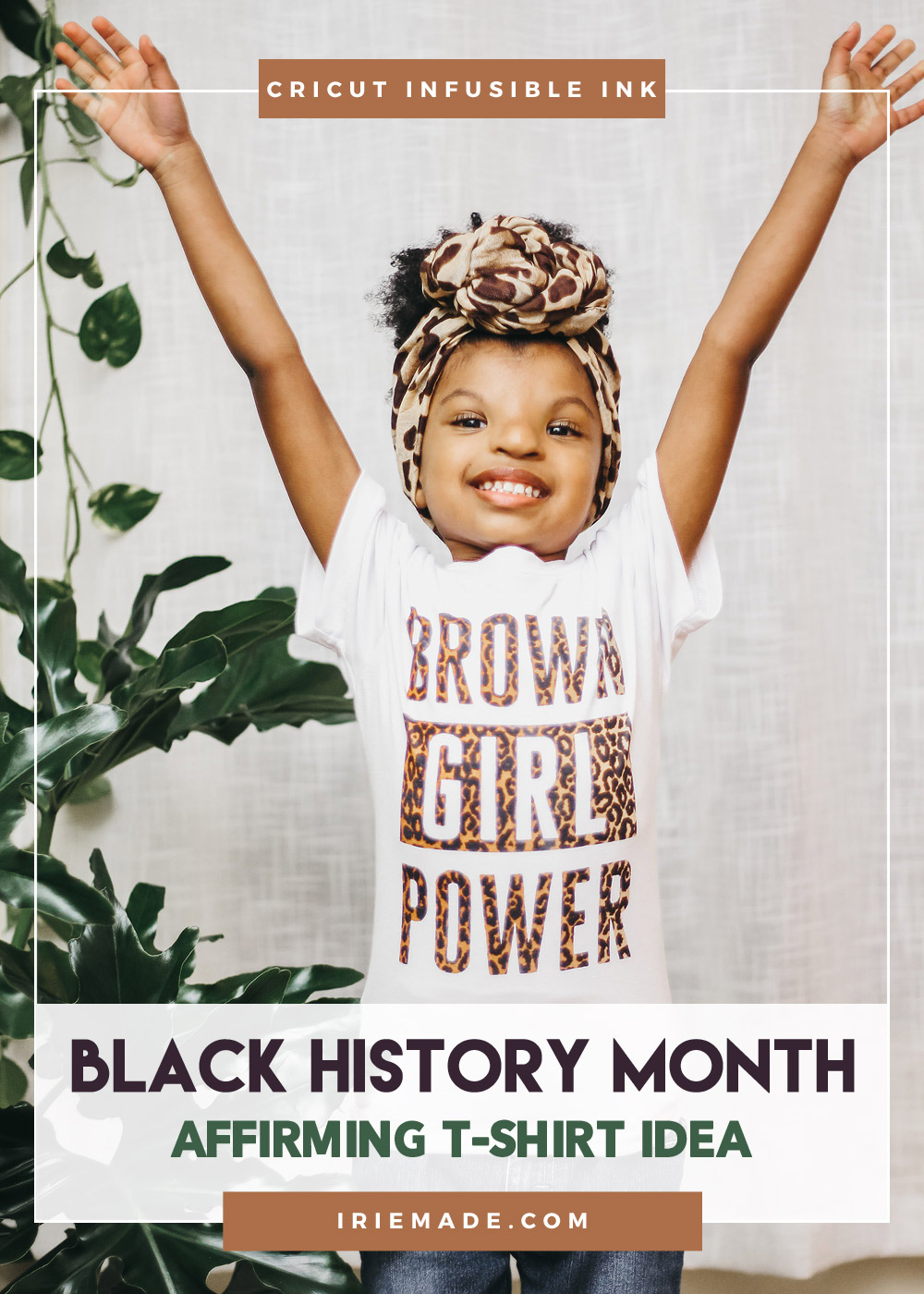Black History Month Tee Using Cricut Infusible Ink + Easypress